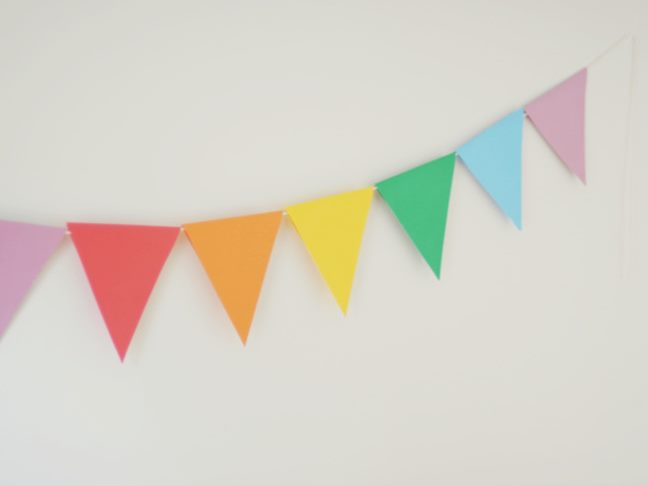 Need some quick festive decor for your party? Try this Paper Party Banner  that's so easy to DIY that even the kids can help! Even if you're not  entertaining ...