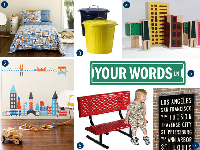 City-Inspired Kids' Room Decor