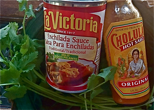 la victoria and cholula hot sauce