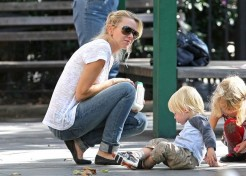 Naomi Watts Plays At The Park And Attends Movie Premiere