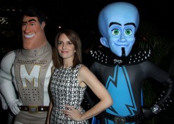 "Tina Fey, Brad Pitt, And Melissa Joan Hart Attend ""Megamind"" Premiere"