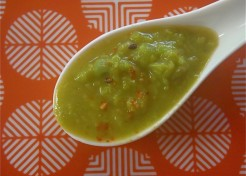 Quick Wasabi Pea Soup