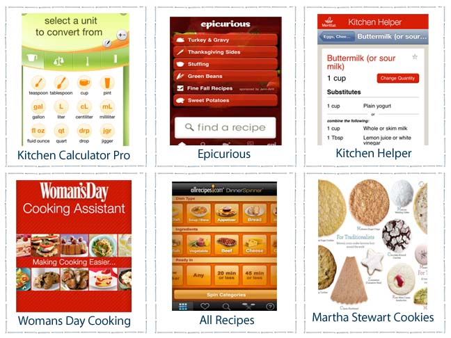 COOKING HOLIDAY APPS