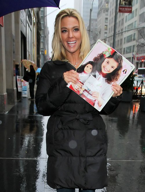 Kate Gosselin black winter coat