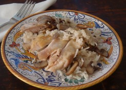 Baked Cream of Mushroom Chicken and Rice