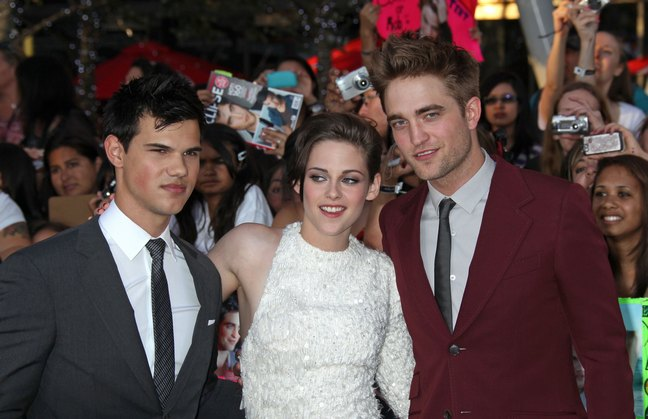 Robert Pattinson, Taylor Lautner, and Kristen StewartTwilight Saga Eclipse premiere
