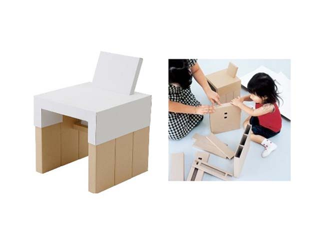 Awe Inspiring Diy Cardboard Child Chair A Piece Of Funiture Your Kids Can Caraccident5 Cool Chair Designs And Ideas Caraccident5Info
