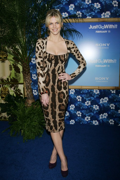 Brooklyn Decker, animal print dress