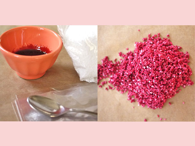 How to Color Your Own Decorating Sugar - Naturally!