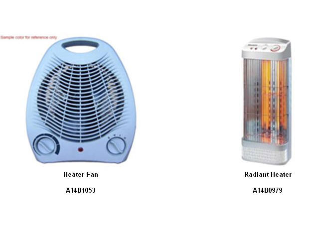 Heater Fans and Radient Heaters Recalled