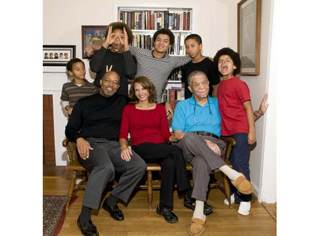 Jolene Ivey pictured with her family