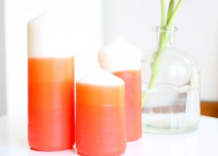 DIY Mother's Day Gift: Ombre Dipped Candles