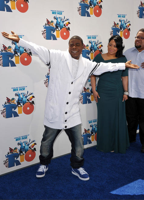 tracy morgan, white sweater