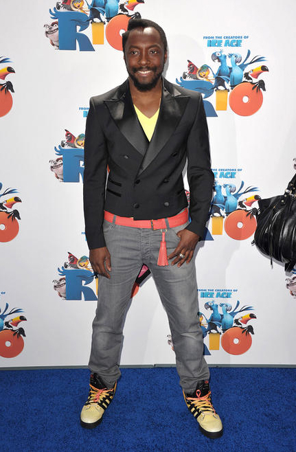 will.i.am, will i am, black jacket, gray pants, flame shoes