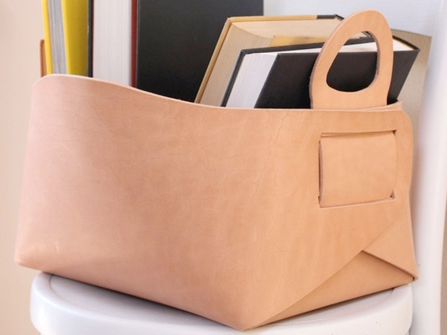 Etsy Picks: Gorgeous Leather Storage Totes