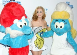 Celebs And Their Families Attend The 'Smurfs' Movie Premiere