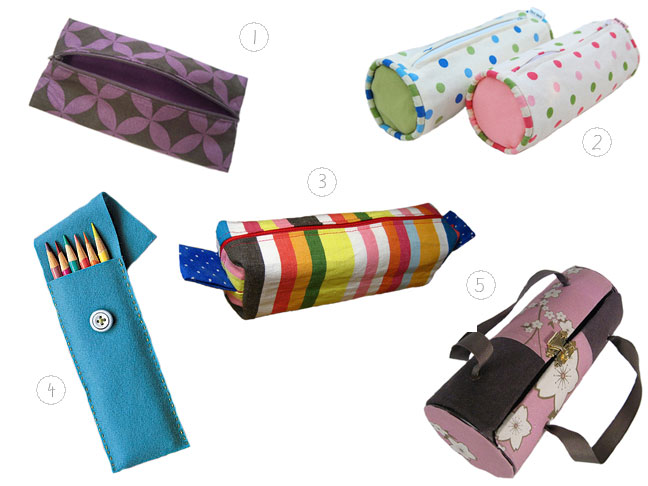 An assortment of pencil cases