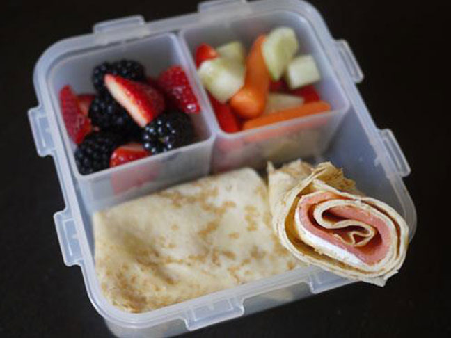 lunch box packed lunch school lunch smoked salmon cream cheese roll up