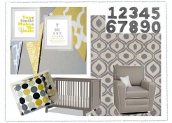 Style Your Room-Grey And Yellow For A Baby Boy