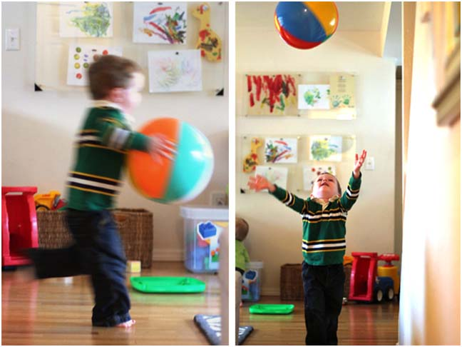 Indoor Fun: Taming Restlessness With Beach Balls