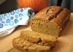 Pumpkin Bread with Caramel Glaze