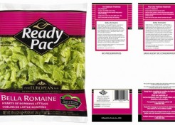Ready Pac Foods Bagged Salad Products Recalled