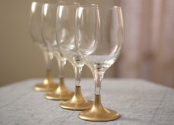 DIY: Gold Dipped Holiday Glasses