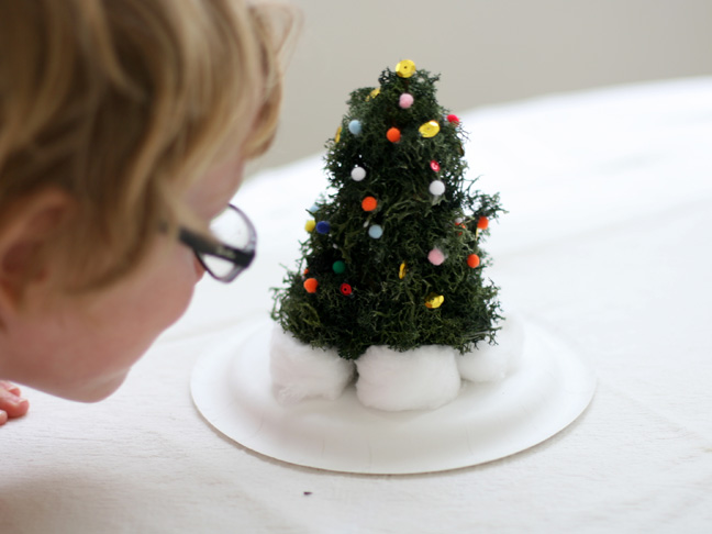 This Mini Christmas Tree Decorating Activty Is Fun For All Ages I M Tempted To Decorate Several The Mantle Guess What It S Made From