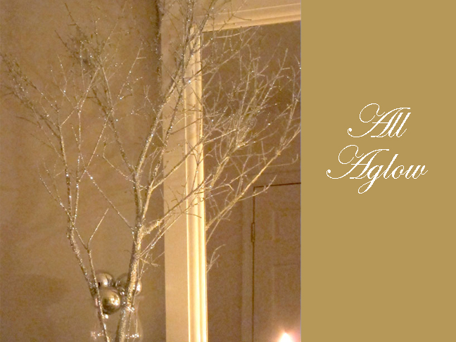 holiday decorating making sparkly branches. Black Bedroom Furniture Sets. Home Design Ideas