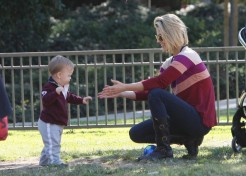 Ali Larter And Her Son Theodore Hit The Park