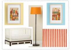 Orange and White Nursery