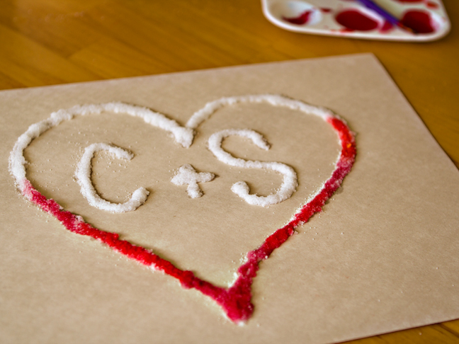 Kid Craft: Growing Love Salt Hearts