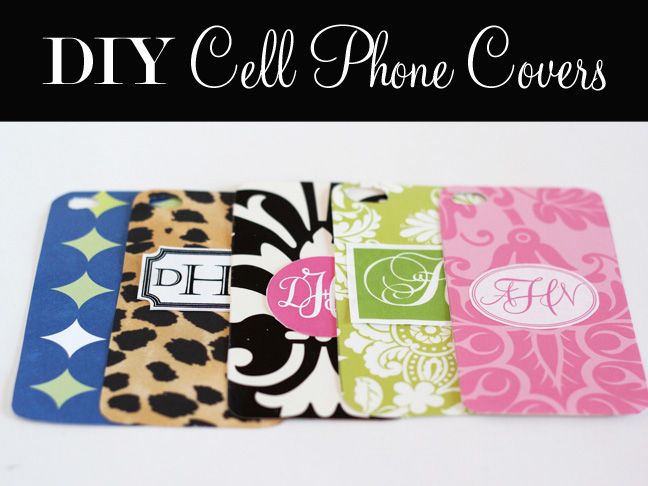 brand new 72835 ee051 DIY: Monogrammed Cell Phone Covers