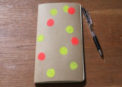 DIY: Stamps and Polka Dot Notebook