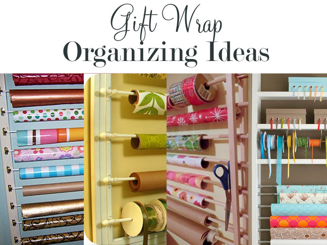 How To Organize Gift Wrap