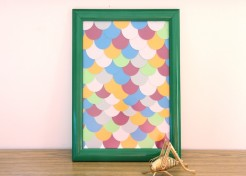 DIY: Scales Paint Chip Art