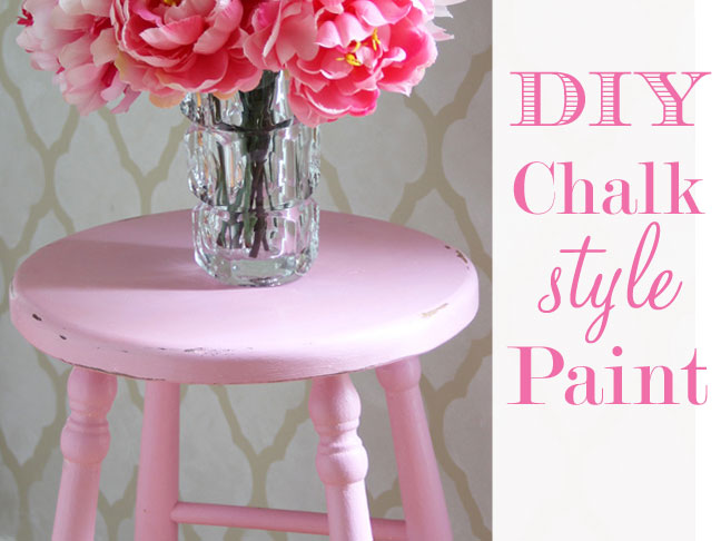 Pink Chalk Painted Bar stool with Unsanded Grout