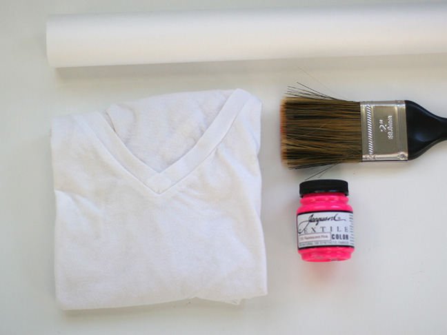 tee shirt and paint