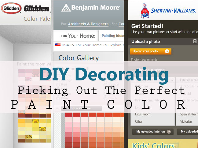 decorating picking out the perfect paint color