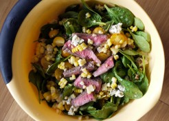 Summer Spinach Salad with Grilled Steak