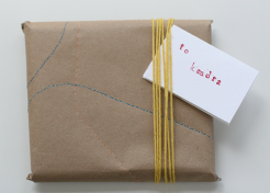 DIY: Stitched Wrapping Paper