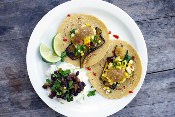 One Hungry Mama Grilled Zucchini and Corn Tacos Labor Day Recipes