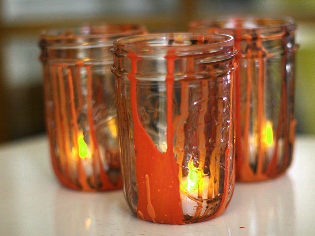 Halloween Drip Jars Craft DIY - Final