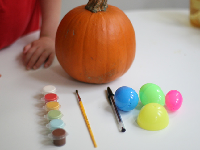 DIY Polka Dot Pumpkin Craft Supplies