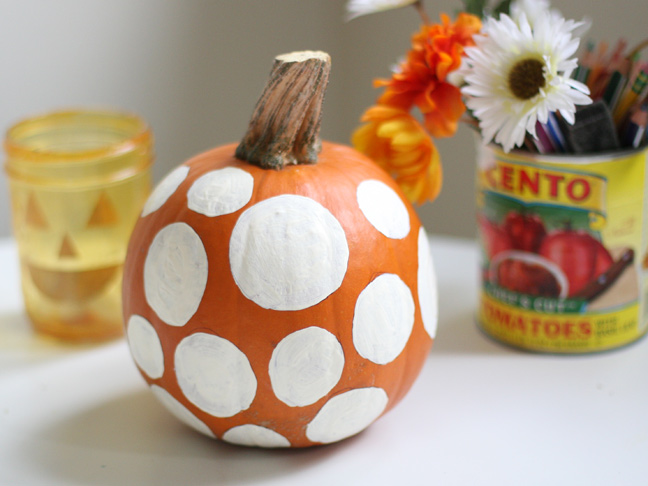 DIY Polka Dot Pumpkin Craft
