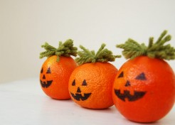 DIY Halloween Craft: Pumpkin Orange Decor
