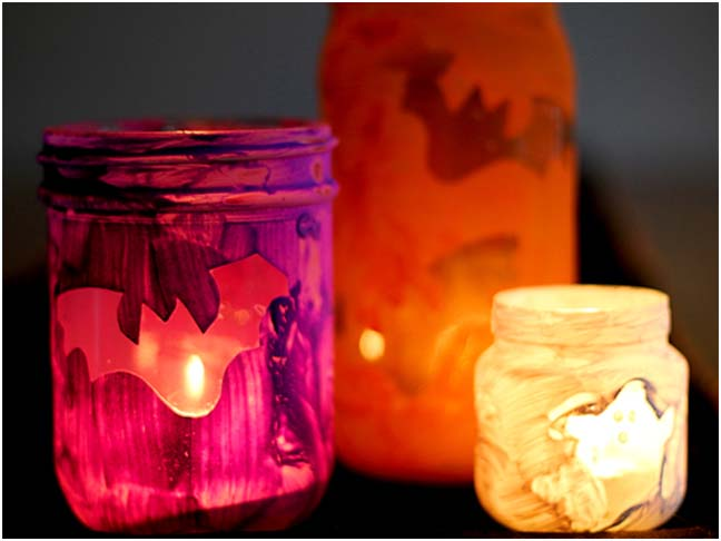 DIY Halloween Craft: Halloween Luminaries