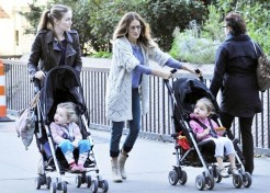 Photos: Celebrity Families Out And About – Ali Larter, Sarah Jessica Parker And More!