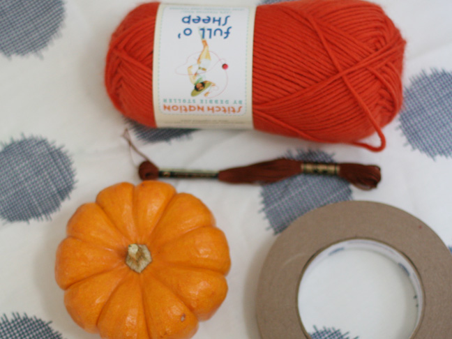 Thanksgiving Wool Pumpkins DIY Craft - Supplies