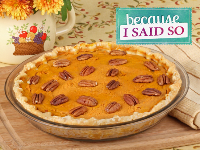 Because I Said So Blog: Pumpkin Pie Promotion